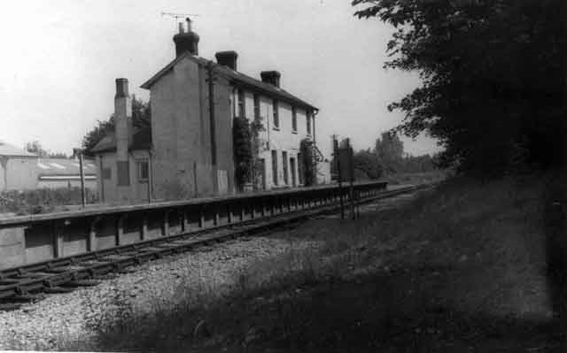 The old station at West Moors ready for demolition