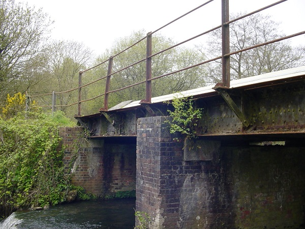 The old railway bridge over the Moors River